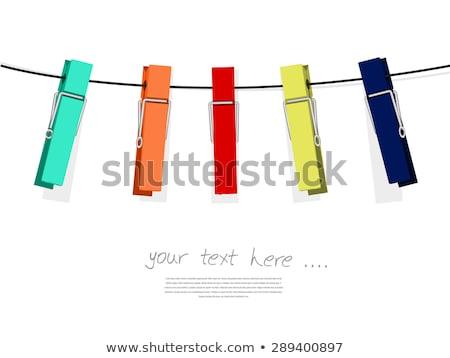 blue clothes peg isolated on white Stock photo © shutswis