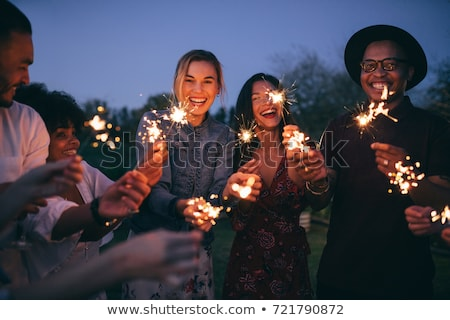 sparkler smile Stock photo © Paha_L