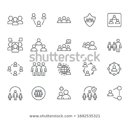 Leiderschap netwerk 3d render afbeelding computer groep Stockfoto © ixstudio
