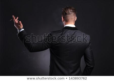 empresário · sofrimento · pescoço · dor · branco - foto stock © feedough