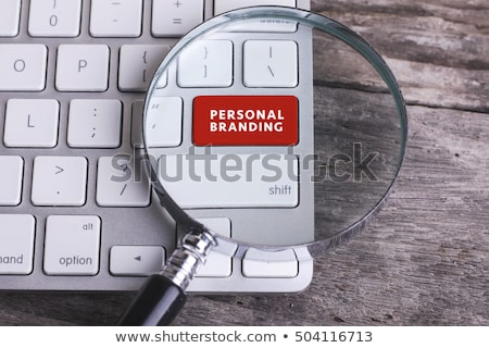 personal branding on computer keyboard key button stock photo © fotoscool