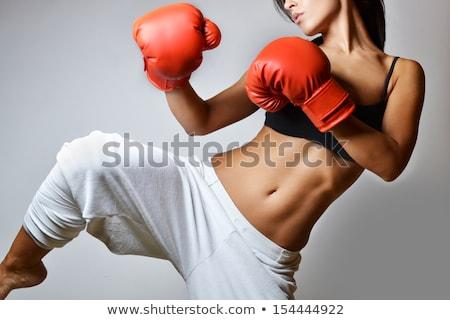 Beautiful female boxer Stock photo © stryjek