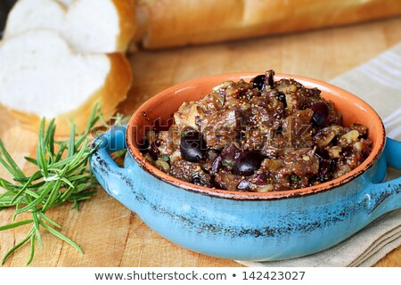 French Bread with Fig Tapenade  Stock photo © StephanieFrey