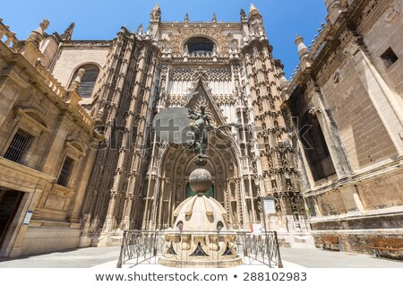 Cathedral Of Saint Mary Of The See In Seville Spain Stok fotoğraf © vichie81