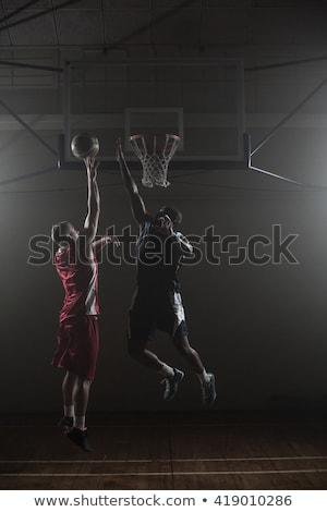баскетбол · один · молодые · противник - Сток-фото © ArenaCreative