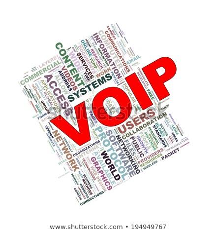 Voipの インターネット 言葉 赤 色 ストックフォト © tashatuvango