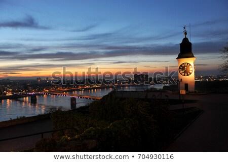 крепость ночь Дунай реке города моста Сток-фото © stevanovicigor
