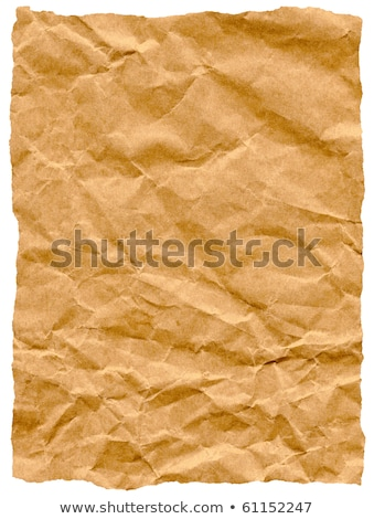 Old torn crumpled paper bag texture isolated on white. Stock photo © latent