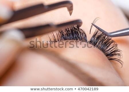 Stock fotó: Mesterséges · szempilla · portré · vonzó · gyönyörű · fiatal