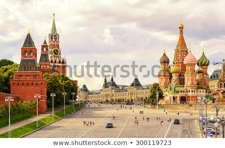 Stock photo: Famous tower of Moscow Kremlin