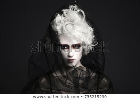 черный · вдова · женщину · вуаль · портрет · лице - Сток-фото © dukibu