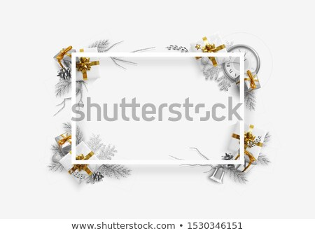 golden gift with white label Stock photo © arquiplay77