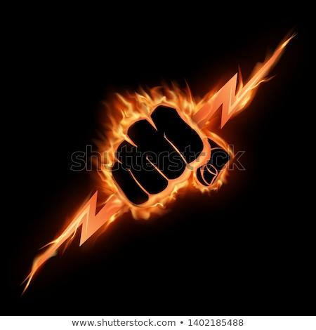 erő · férfi · zárva · másfelé · néz · testmozgás · férfi - stock fotó © silent47