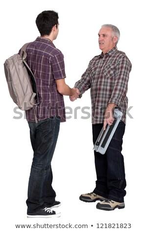 Experiente reunião novo aprendiz homem Foto stock © photography33