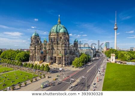 Berlijn · kathedraal · plezier · tuin · fontein · park - stockfoto © inarts