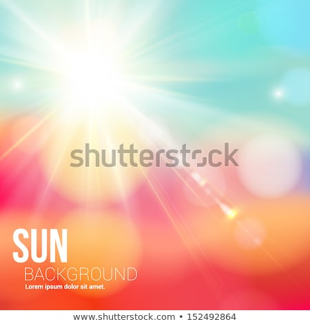 abstract · winter · zon · gloed · Blauw · vector - stockfoto © tuulijumala