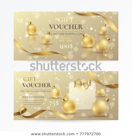 Gold Weihnachten Tasche vorliegenden Hintergrund Raum Stock foto © oly5