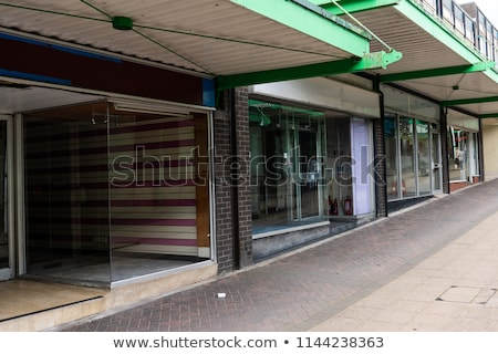 Empty shops in an abandoned high street stock photo © lucielang