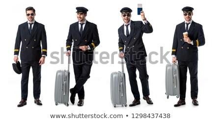 companhia · aérea · piloto · foto · quatro · bar - foto stock © elnur