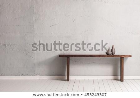 Tulips on gray wood table  Stock photo © phila54
