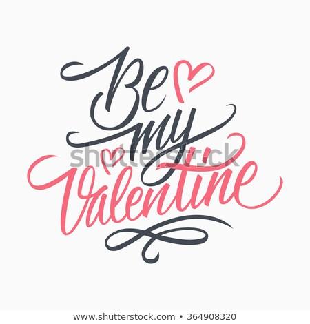 Cartão meu valentine texto colorido corações Foto stock © bharat