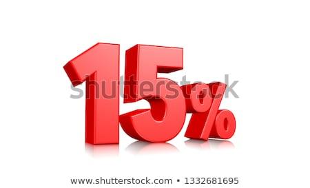 15 yüzde indirim mavi ikon beyaz Stok fotoğraf © kbuntu