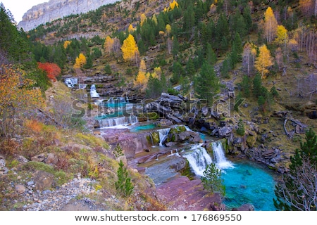 arazas river waterfall in ordesa valley pyrenees huesca spain stock photo © lunamarina