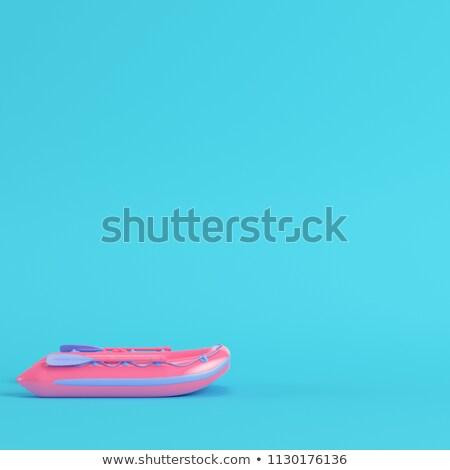 inflatable boat   3d render stock photo © elenarts