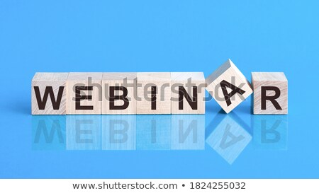 webinar in blue glass blocks stock photo © marinini