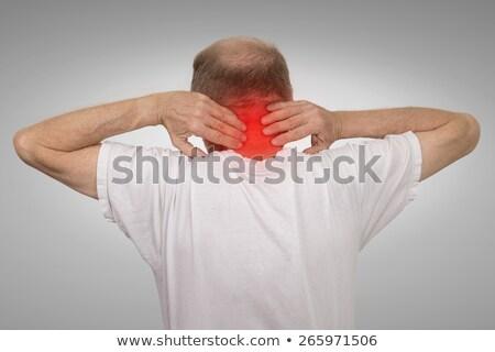 old man with neck sprain stock photo © ichiosea