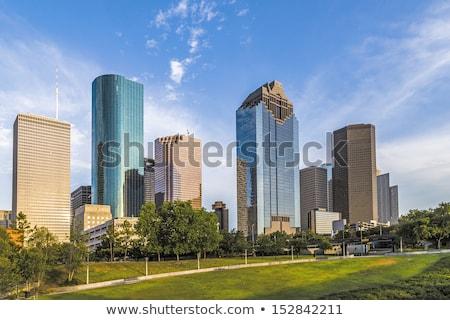 Cityscape Хьюстон поздно после полудня свет служба Сток-фото © meinzahn