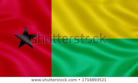 Gine · bayrak · beyaz · büyük · ayarlamak · soyut - stok fotoğraf © zeffss