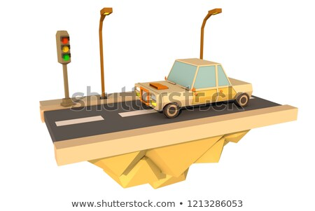 3d white people traffic speed radar stock photo © texelart