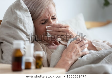 Cold illness medicaments, tea and tissues Stock photo © CandyboxPhoto