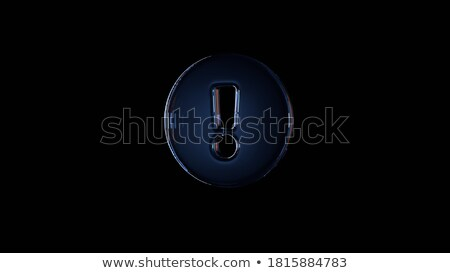 exclamation symbol icon dark blue isolated on black background stock photo © zeffss