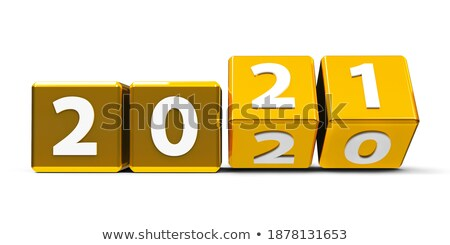 start in golden cubes isolated Stock photo © marinini