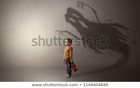 desenho · animado · assustado · homem · mão · projeto · louco - foto stock © izakowski
