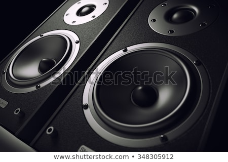 Stock fotó: Black Audio Speakers
