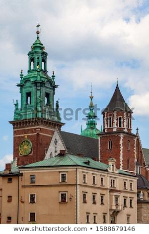 замок · Краков · Польша · город · фон - Сток-фото © meinzahn