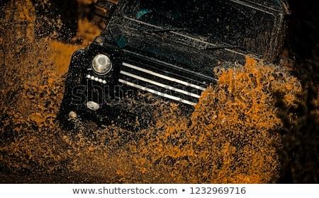 boueux · Jeep · route · conduite · lumière - photo stock © grafvision