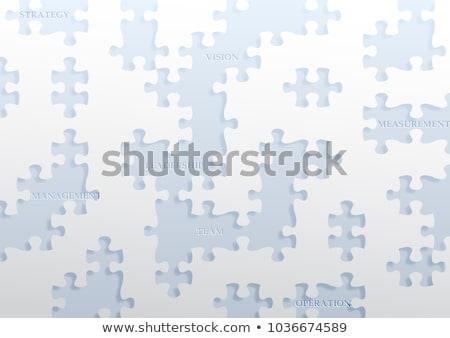 quality on blue puzzle stock photo © tashatuvango