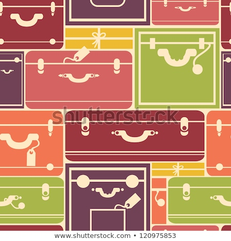 Seamless pattern of bags, luggage, baggage Stock photo © elenapro