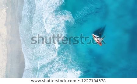 yelkencilik · cennet · tropikal · plaj · bulutlar · spor - stok fotoğraf © dinozzaver