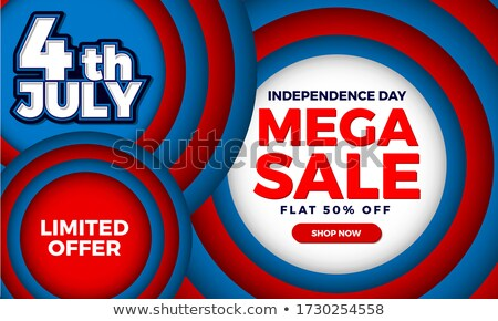 4th of July template American Independence Day brochure circle i Stock photo © bharat