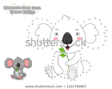 Stippel koala schets natuur schoonheid iconen Stockfoto © Soleil