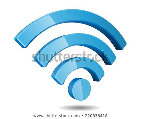 3D wifi Symbol 3d render weiß Internet Stock foto © klss