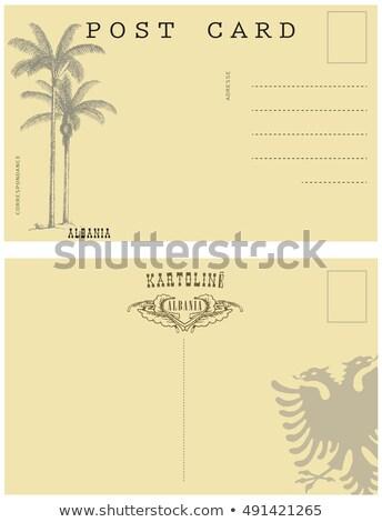 старой бумаги почерк Албания синий чернила образование Сток-фото © michaklootwijk