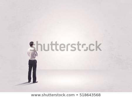 üzletember · kezek · fej · izolált · fehér · kéz - stock fotó © feedough