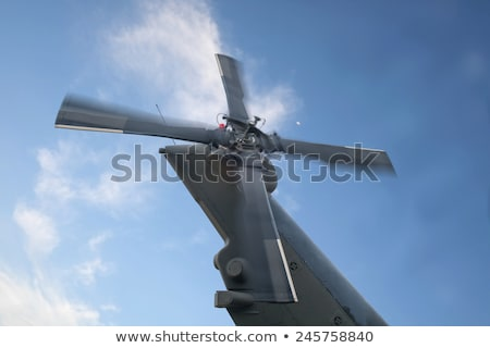 helicopter tail rotor stock photo © bigknell
