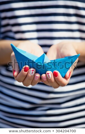 marinos · estilo · manicura · femenino · mano · moda - foto stock © eleaner